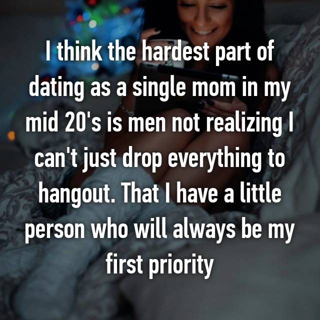 Single mother dating a single man