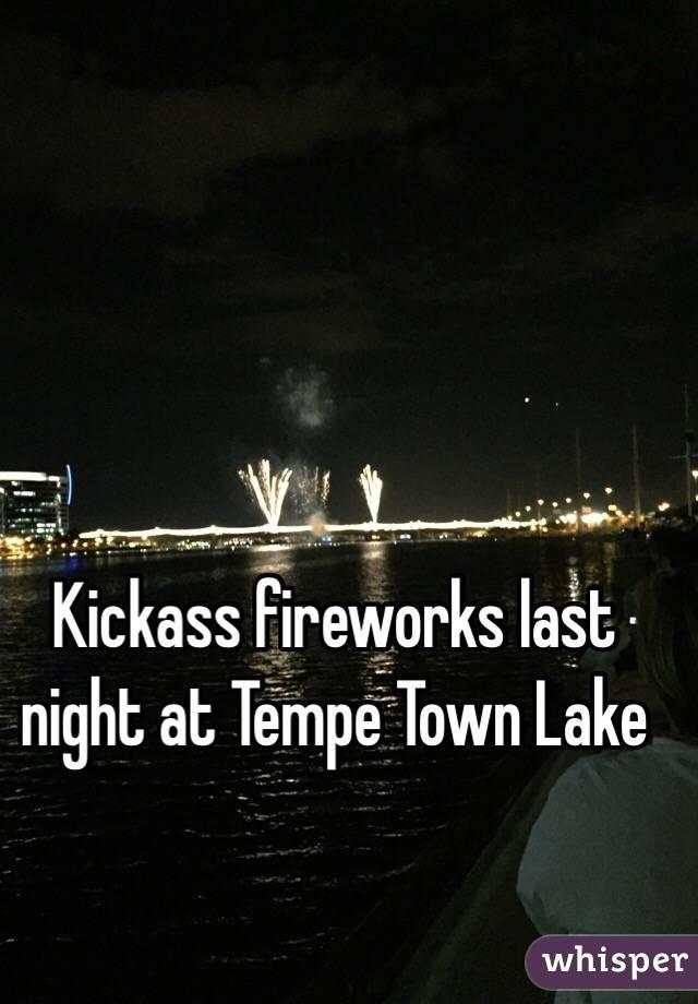 Kickass fireworks last night at Tempe Town Lake