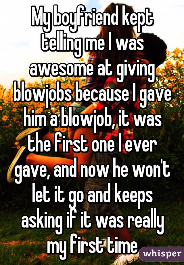 Boyfriend not like blowjob