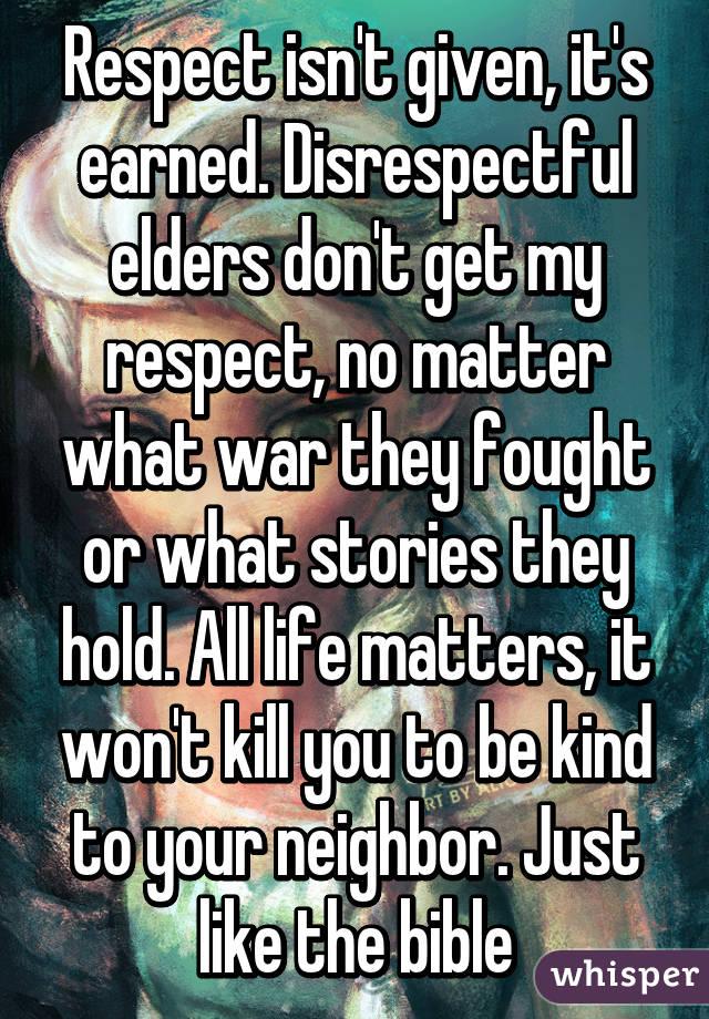story of respecting elders