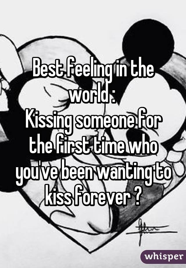 kissing someone for the first time