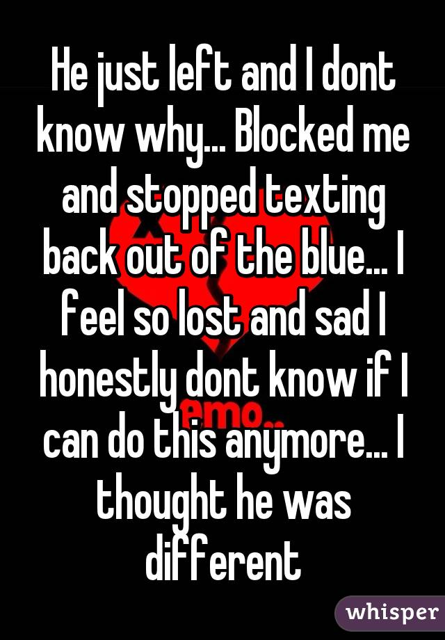 he stopped texting back