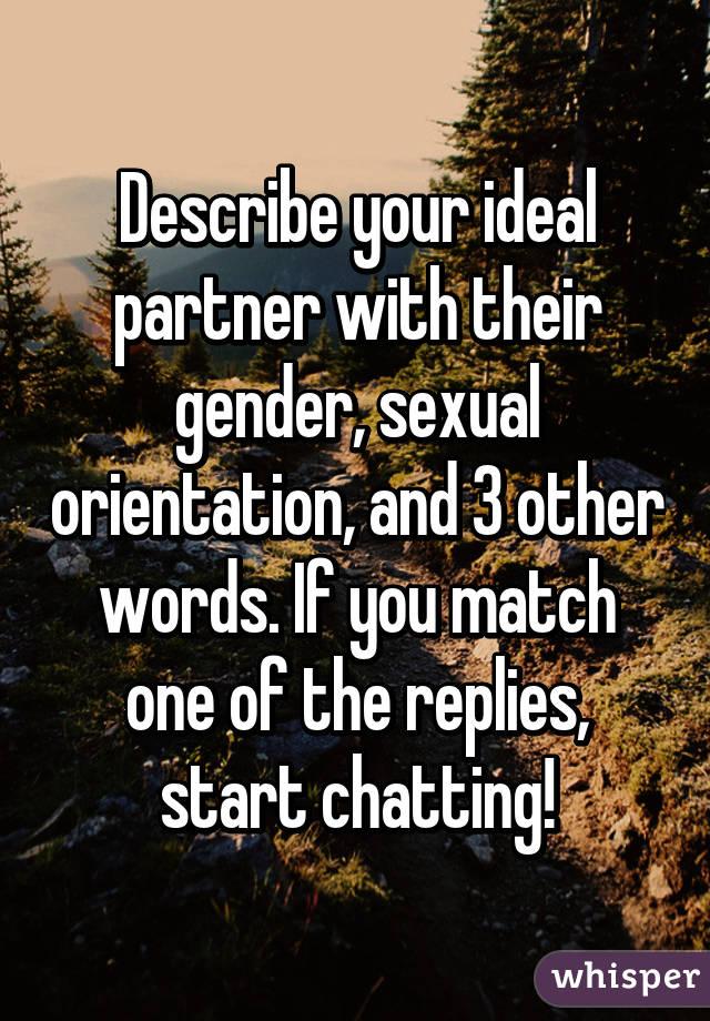 Gender or sexual orientation words
