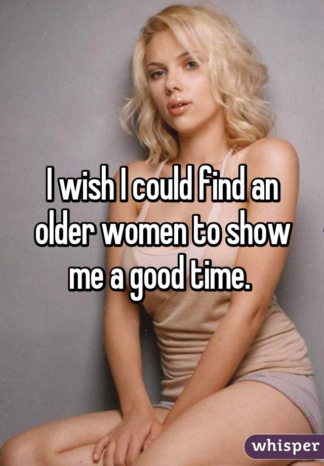 How To Find An Older Woman