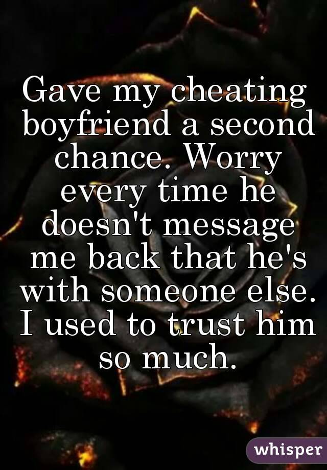 Message to a cheating boyfriend