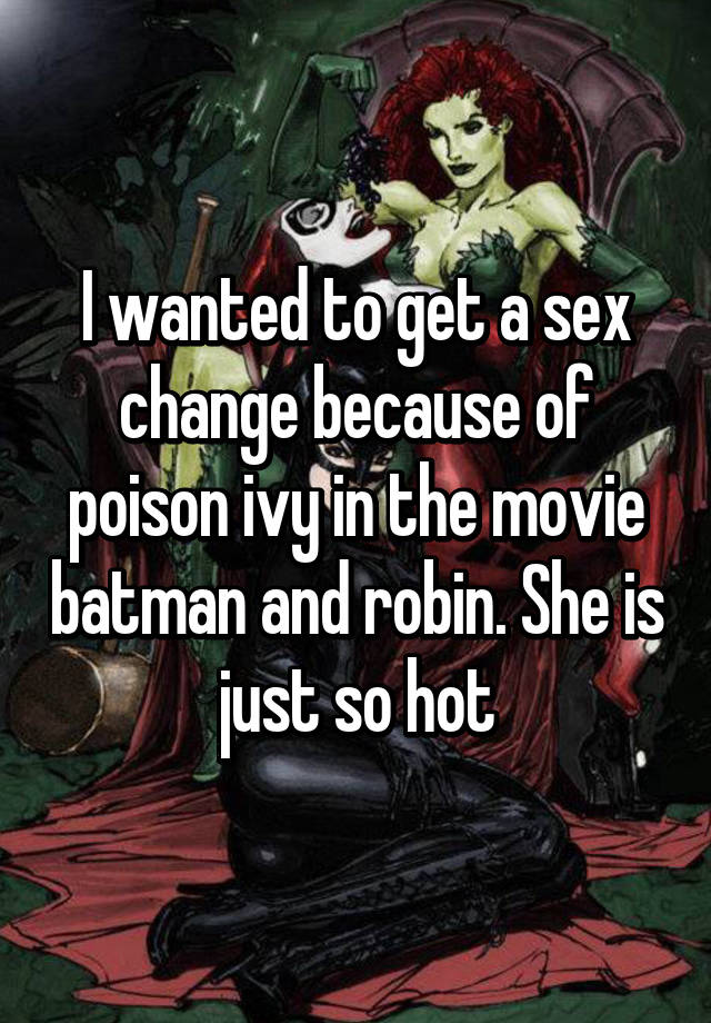 Baman robin sex change