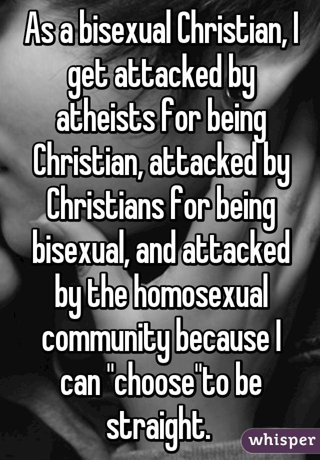 Being bisexual and christian