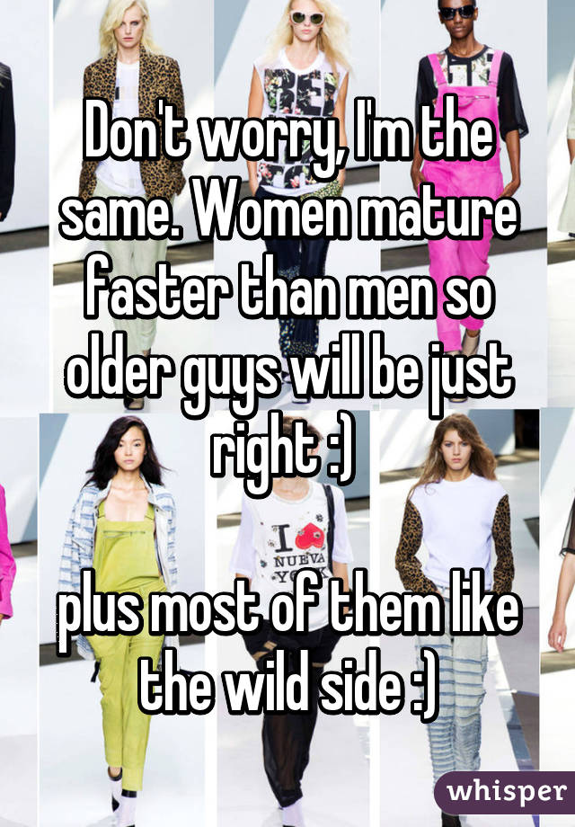 Do women mature faster than men