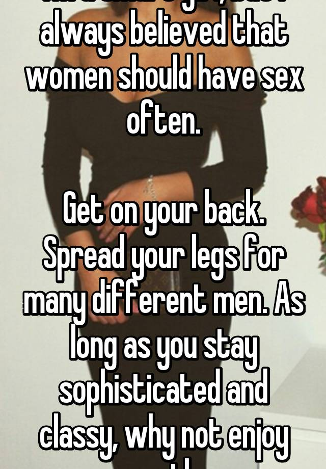 How often should men have sex