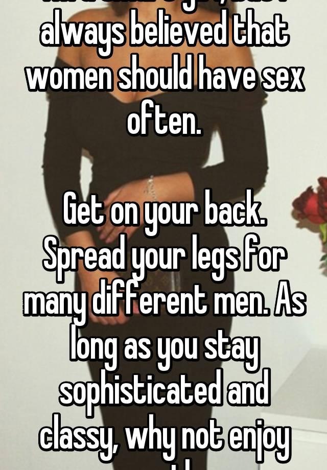 How often should men have sex