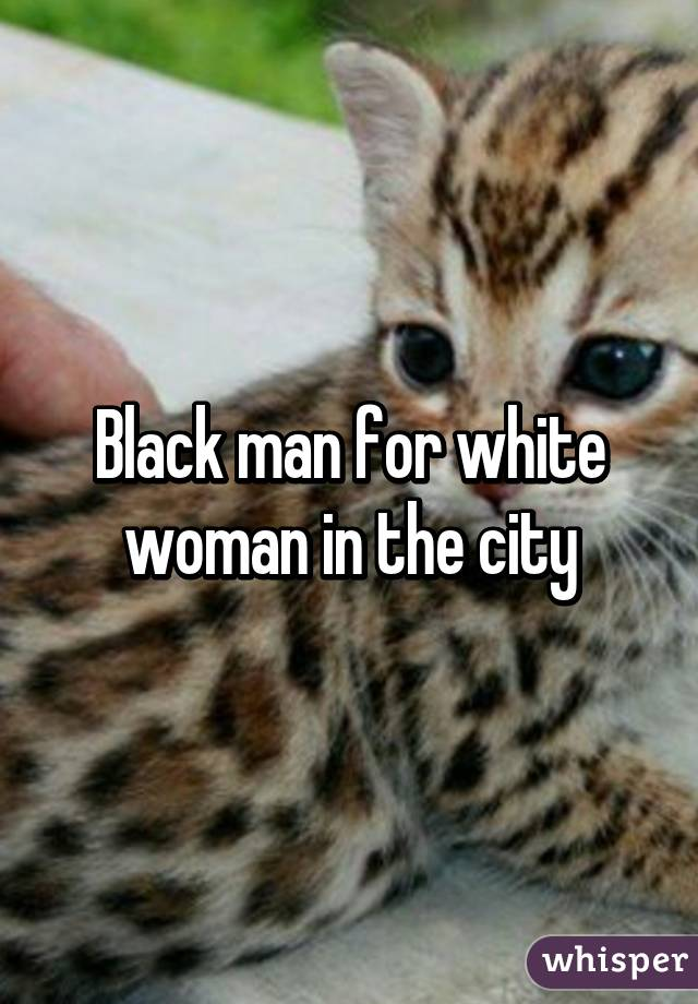 Black man for white woman in the city