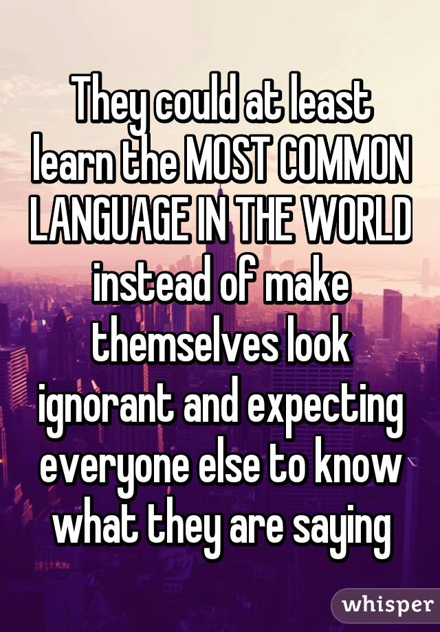Could At Least Learn The MOST COMMON LANGUAGE IN THE WORLD Instead - 3 most common languages in the world
