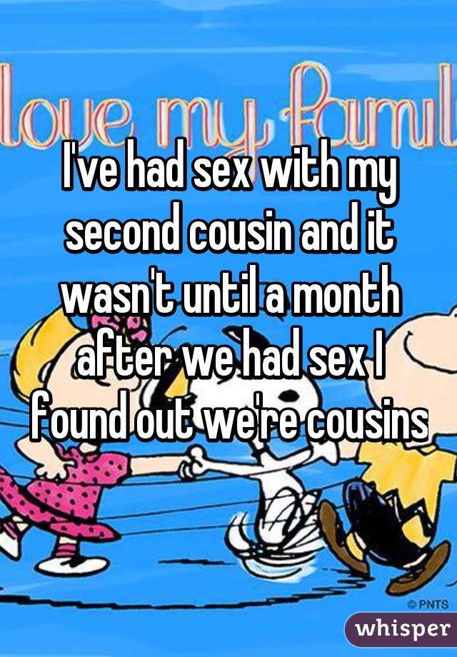 Sex with second cousin opinion you