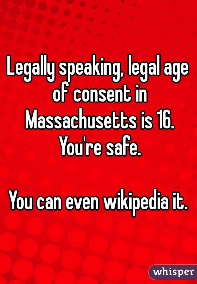 Massachusetts legal age to have sex