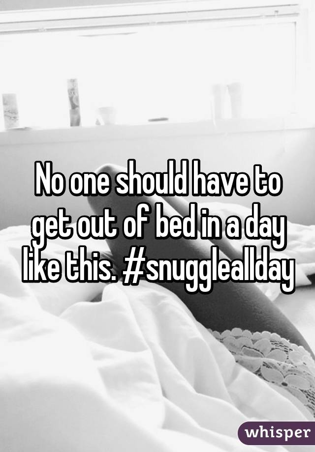 No one should have to get out of bed in a day like this. #snuggleallday