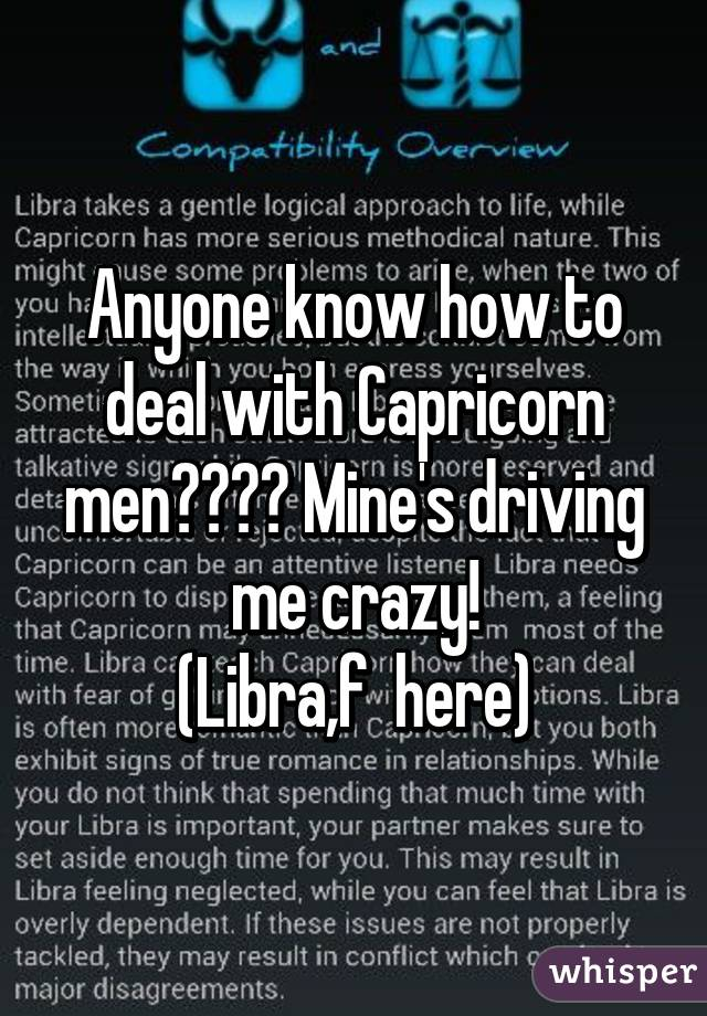 How to deal with a capricorn man