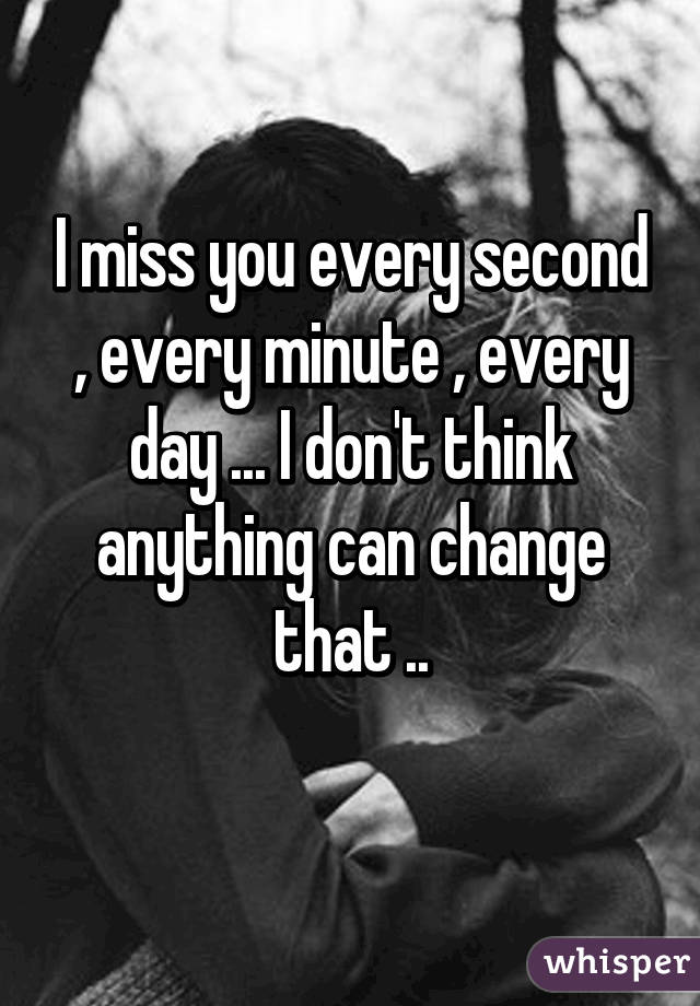 I Miss You Every Second Of The Day