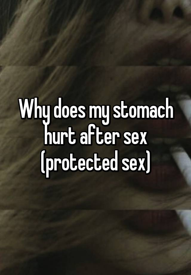 Does first sex hurt above told