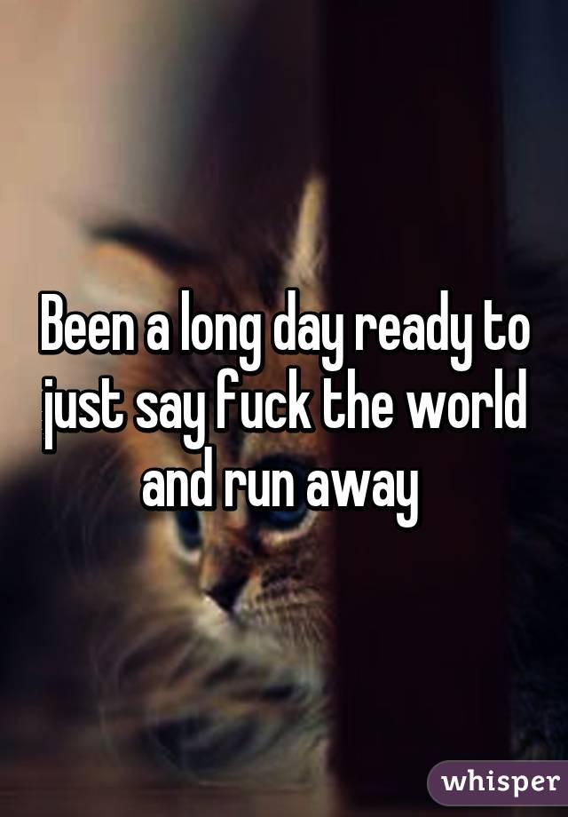 Say Fuck The World