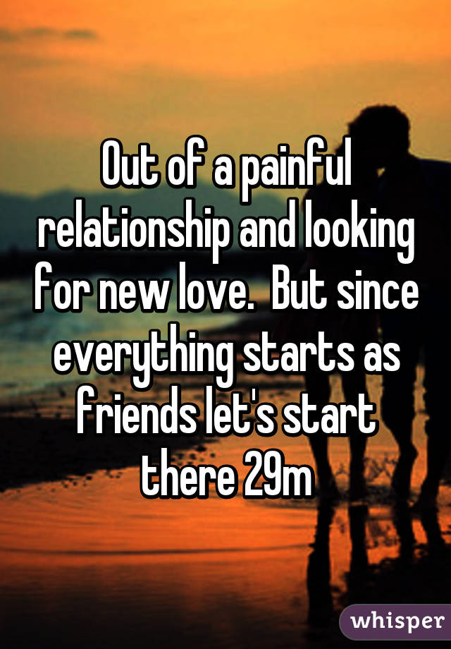 Looking for a new relationship