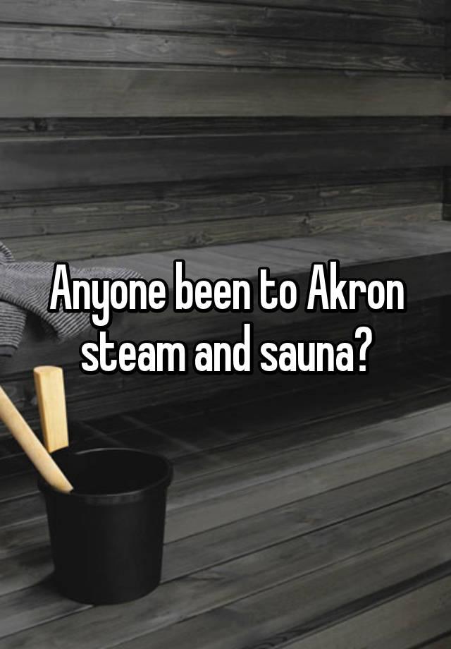 Akron steam sauna