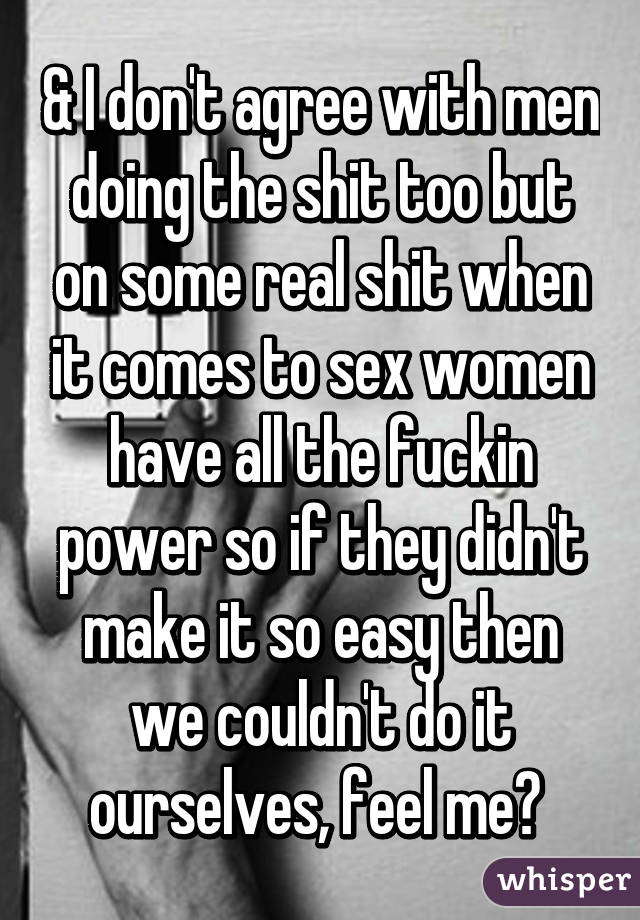 Lyric sex conversation lyrics : & I don't agree with men doing the shit too but on some real shit ...