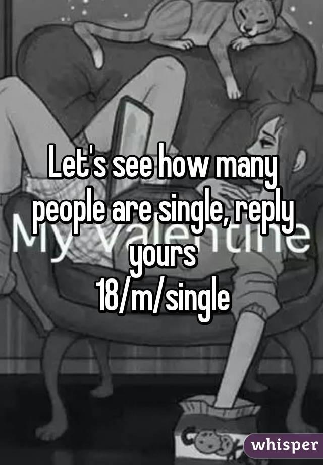 How many men are single