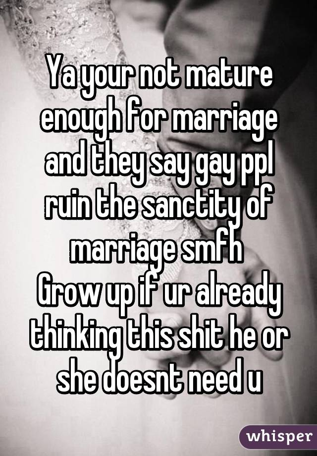 Are you mature enough marriage