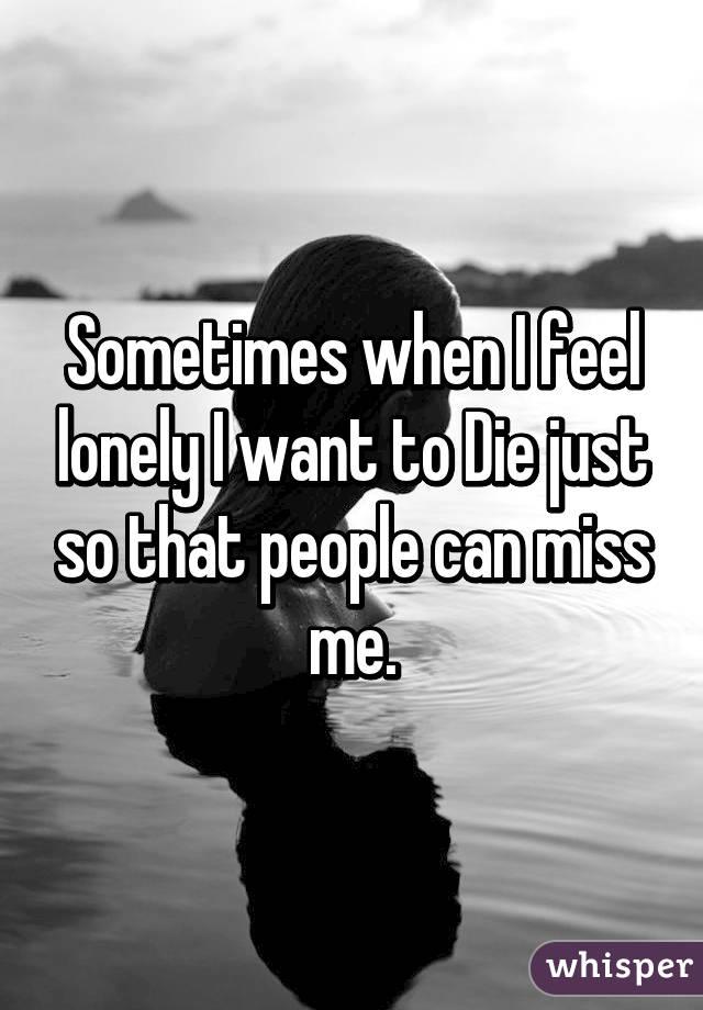 Feeling of wanting to die
