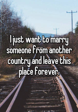 marry someone from another country
