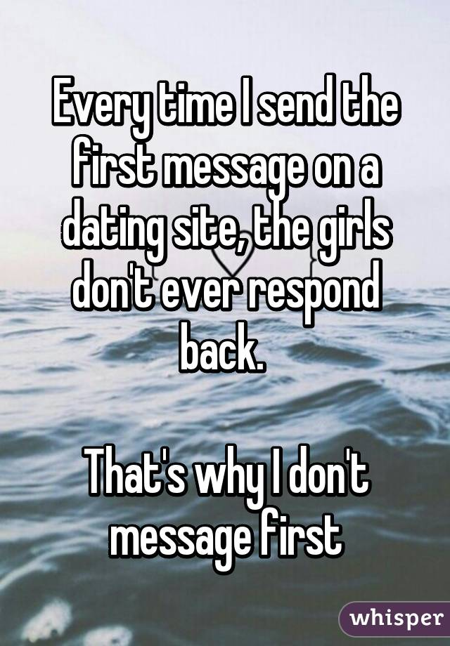 The first message on a dating site