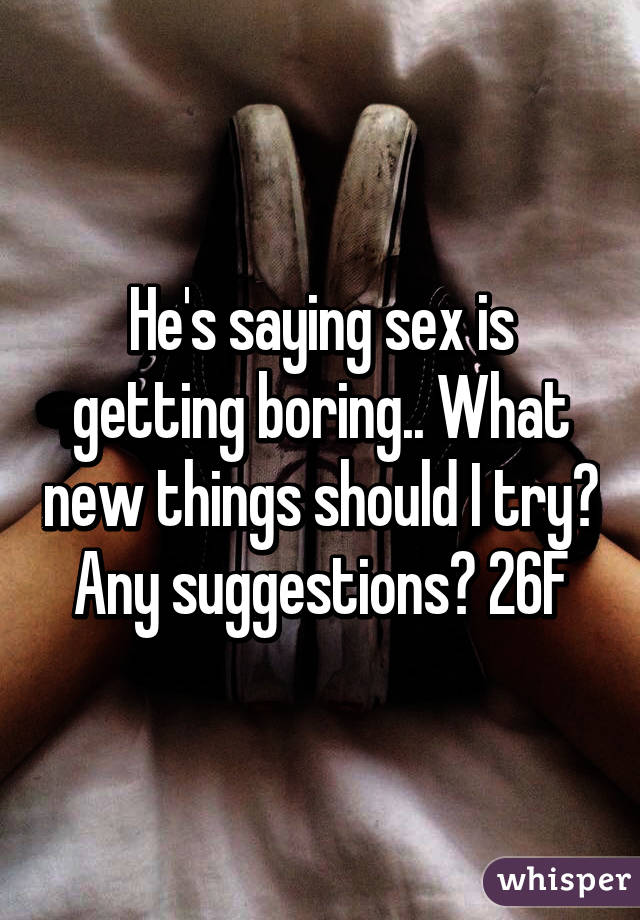 New things to do in sex