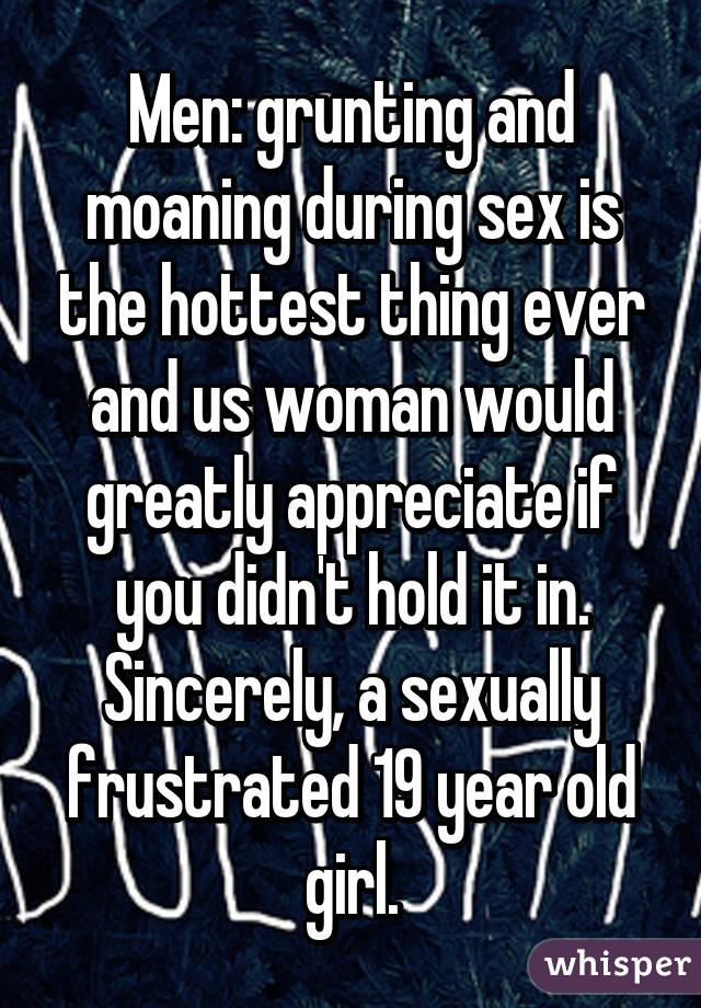 Men moaning while having sex