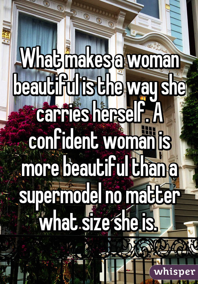 what makes a woman confident