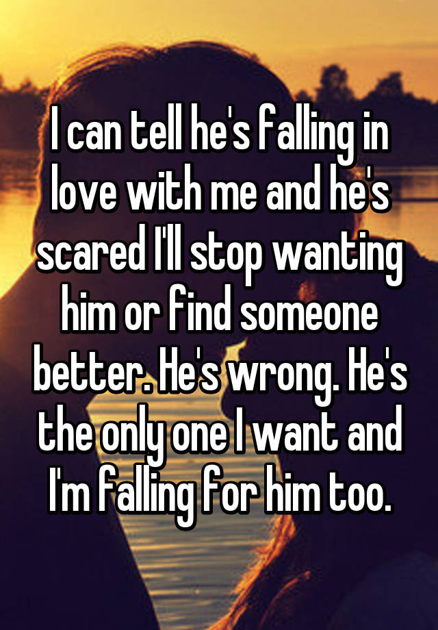 Signs Hes Falling In Love But Scared