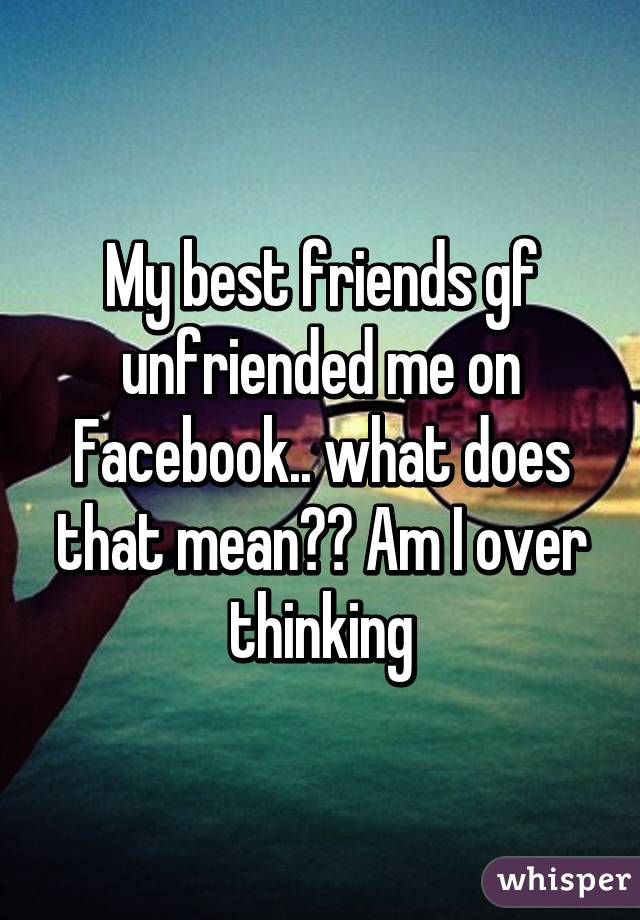 My girlfriend unfriended me on facebook | Why My Ex
