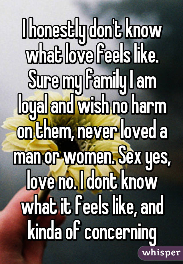 What love feels like to a man