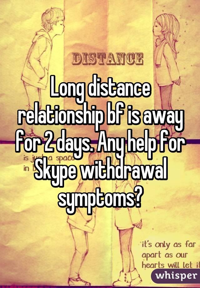 Boyfriend withdrawal symptoms