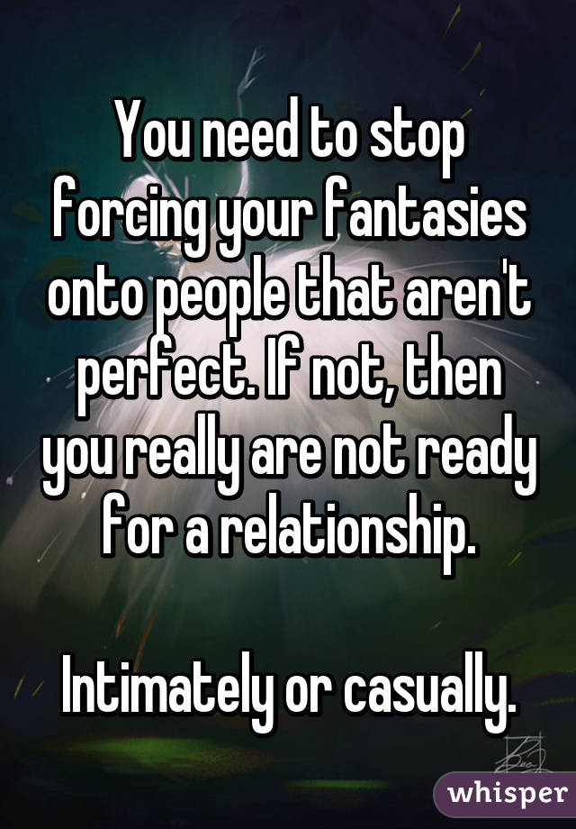 How to stop forcing a relationship