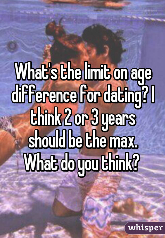 Max age difference for dating
