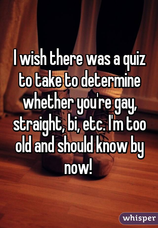 How To Tell If Your Gay Quiz