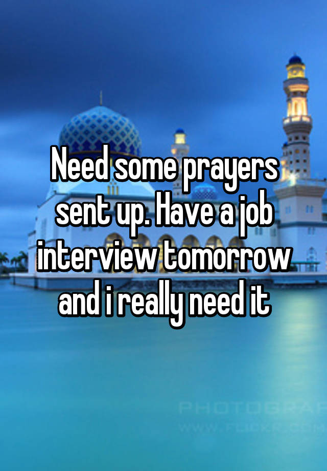 Prayer for job interview tomorrow