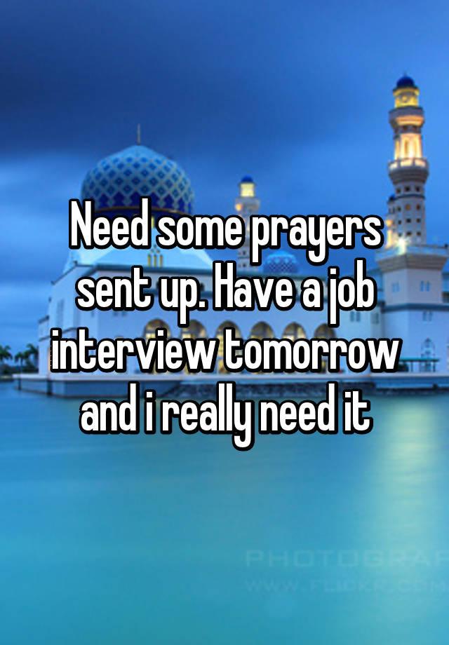 Prayer for job interview tomorrow