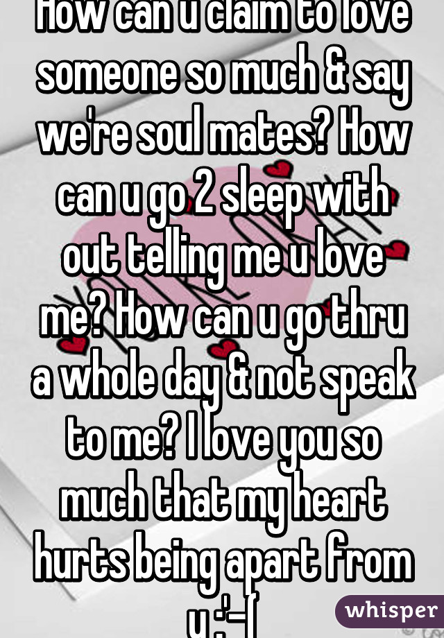 What To Say To Someone U Love