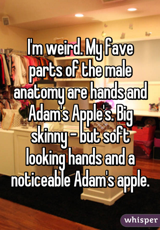 M Weird My Fave Parts Of The Male Anatomy Are Hands And Adams