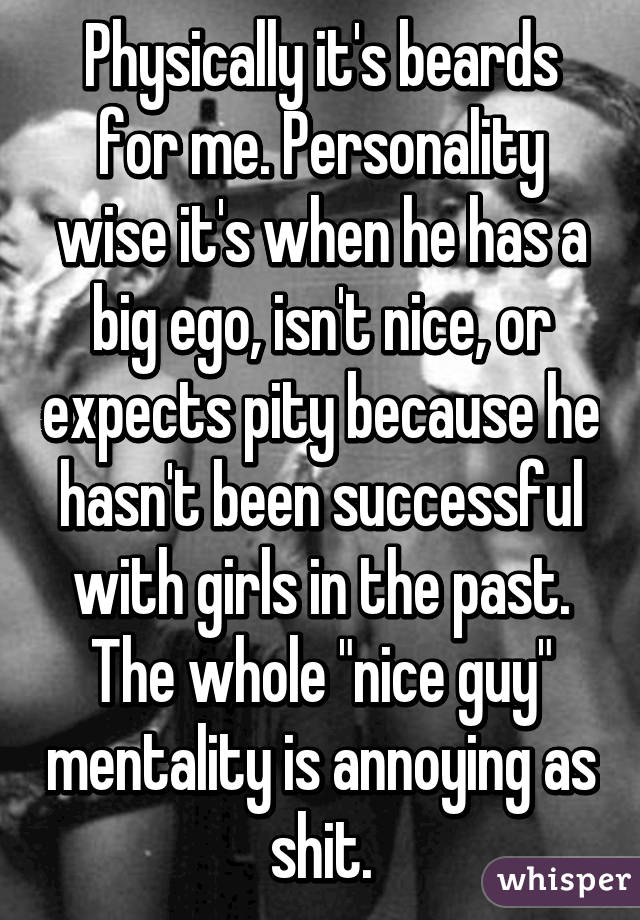 he has a big ego