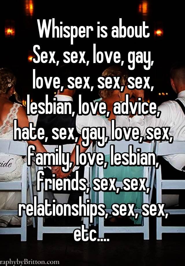 Lesbian love advice
