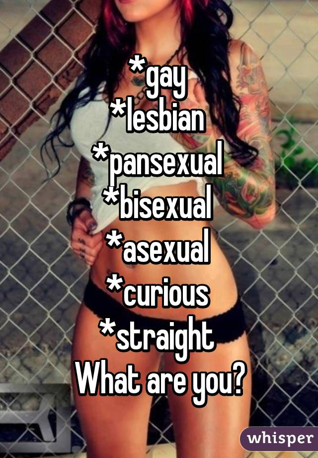 Are You Lesbian Bisexual Or Straight