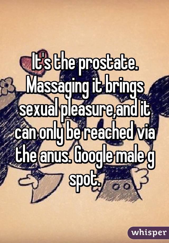 Prostate massage for sexual pleasure