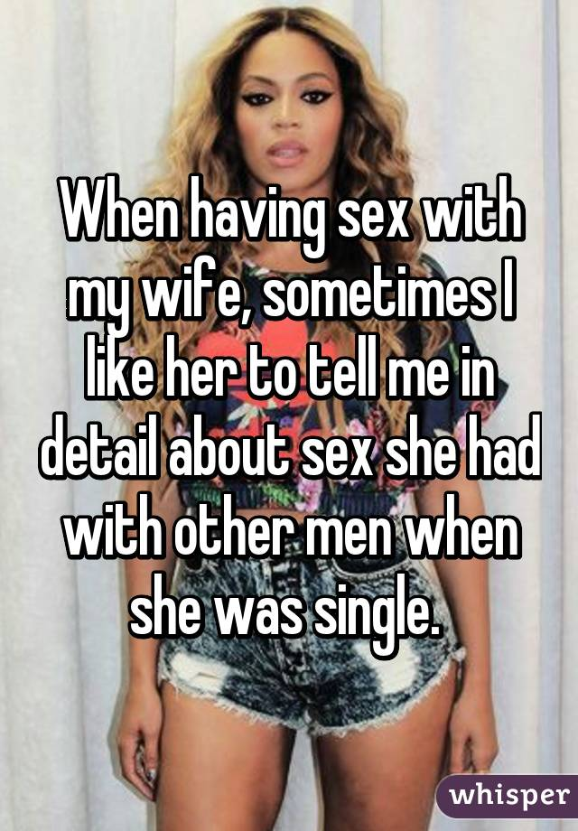How many men have she had sex with